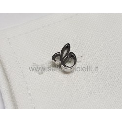 Obsigno cufflinks initial silver 925 & onyx  - letter C