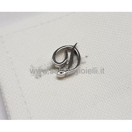 Obsigno cufflinks initial silver 925 & onyx  - letter C