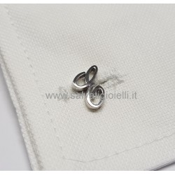 Obsigno cufflinks initial silver 925 & onyx  - letter E