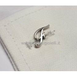 Obsigno cufflinks initial silver 925 & onyx  - letter F