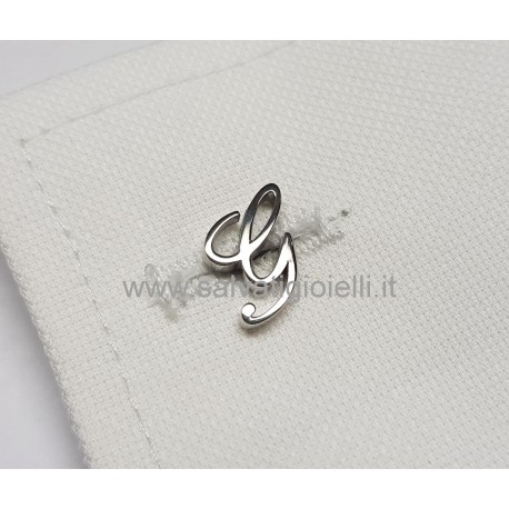 Obsigno cufflinks initial silver 925 & onyx  - letter F
