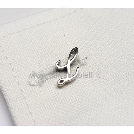 Obsigno cufflinks initial silver 925 & onyx  - letter L