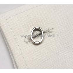 Obsigno cufflinks initial silver 925 & onyx  - letter O