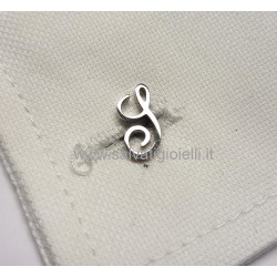 Obsigno cufflinks initial silver 925 & onyx  - letter S