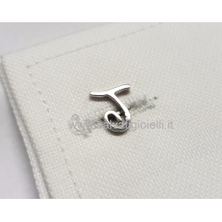 Obsigno cufflinks initial silver 925 & onyx  - letter J