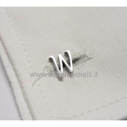 Obsigno cufflinks initial silver 925 & onyx  - letter W