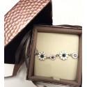 bracelet daisies silver enamel HANDMADE *DB201