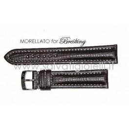 BREITLING cinturino marrone scuro MORELLATO dark brown strap 18mm