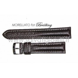 BREITLING cinturino marrone scuro MORELLATO dark brown strap 20mm