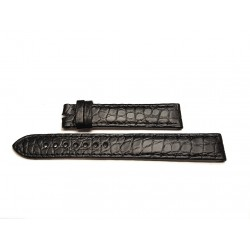 EBERHARD Black crocodile strap x 8 JOURS - 16.5mm ref. 614 ( per ref: 20017, 20022, 21017, 21022 )