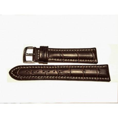 BREITLING cinturino marrone scuro MORELLATO croco brown strap 22mm (TOP QUALITY)