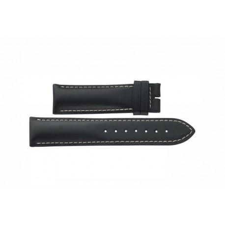 LONGINES black leather strap 21mm ref. L682124852 Conquest L682.124.852