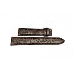 LONGINES Prèsence dark brown crocodile print strap 18/16 mm L682.100.664 ref. L682100664