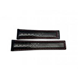 TAG HEUER black perforated calf strap 21mm CARRERA CALIBRE 16 ref. FC6454 x CBM2112 / CBM2110