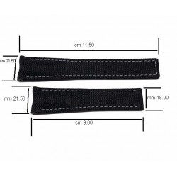 TAG HEUER black textile strap grey sewing AQUARACER 21,50 mm FC6370 CAY211A CAY218A
