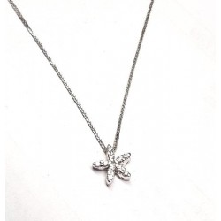 Necklace white gold ref. SXS with 10 diamonds ct. 0.20