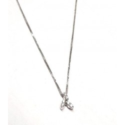 Necklace white gold ref. ECR (b) with 6 diamonds ct. 0.12