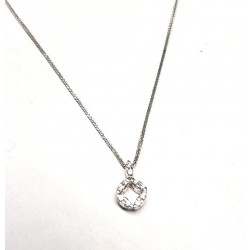 Necklace white gold ref. SXS(b) with 10 diamonds ct. 0.20