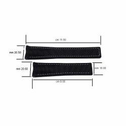 TAG HEUER black textile strap grey sewing AQUARACER 20,50 mm FC6364 WAY218B